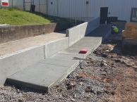 ADA Entrance ramp and wall