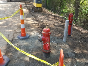 New Fire Hydrant and Post Indicator Valve