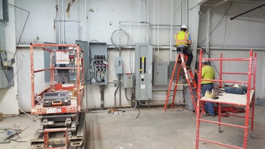 New electrical service and gear