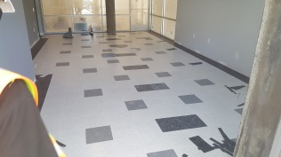 VCT installation in Lobby complete