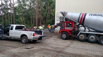 1st truckload being placed