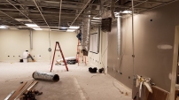 Lab construction underway