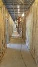 Sound batt insulation installed in the hallway