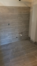 Ceramic tile installed